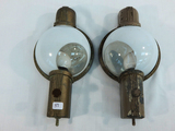 2 Vintage Electric Railroad Passenger Car Lights