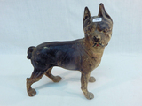 Old Cast Iron Boston Terrier Door Stop W/ Original Paint