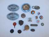 Misc. Pin Backs, Buttons, 2 Pepsi-Cola Tags Etc.