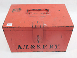 ATSF Railroad Metal Box