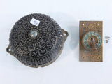 Old Iron Door Bell & Plate