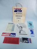 Political Paper Goods - Carter, Clinton Etc.