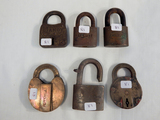 6 Locks - Dandy, Glasco, American, Eagle Pepperell, KCS M Of W Etc.