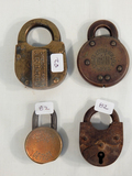 4 Locks - Illinois Central, Street Letter Box US, E. P. Hurd Lock Co. Etc.