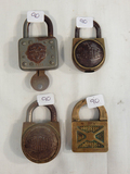 4 Misc. Locks - 1 W/ Key, Shurloc, Master Etc.