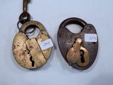 2 Misc. Locks - 1 W/ Key, GRI&P; 1 Heart-Shaped, US