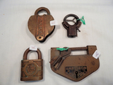 4 Misc. Locks - L&N Railroad, Sterling Jr., Yale Wabash Made For Signal Dep
