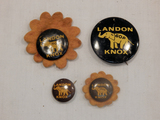 Political Buttons - 4 Landon Knox