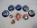Political Buttons - 9 Ronald Reagan Era