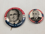 Political Buttons - 2 Harry Truman