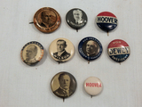 Political Buttons - 6 Older Pinbacks W/ Wilson, Mckinley, Taft Etc.