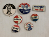 Political Buttons - 3 Goldwater, Connally Etc.