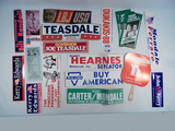 Lot Political Stickers, Ballots Etc