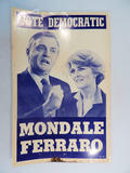 Mondale Ferraro Double-Sided Poster, 14
