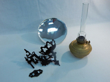 Bradley & Hubbard Bracket Lamp W/ Mercury Glass Reflector