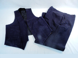 Vintage Wool Conductor's Pants & Vest