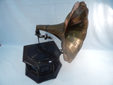 Sonata Gramophone W/ Morning Glory Horn - As Found & Not Working