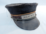 Vintage CB&Q Railroad Agent Cap - As Is