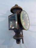Old Tin Carriage Lamp W/ Beveled Glass - As Is