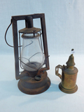Rayo Kerosene Lamp; Brass Hanging Lamp