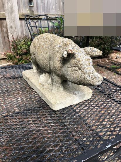 Cast Concrete Pig - As Found