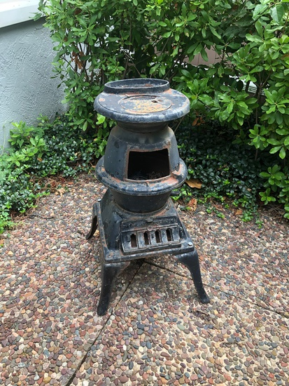 Small Vintage Pot Belly Stove - As Found