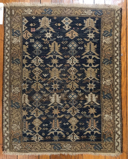 "Russian Rug - 2'8""x2'1"", W/ Blue Background"