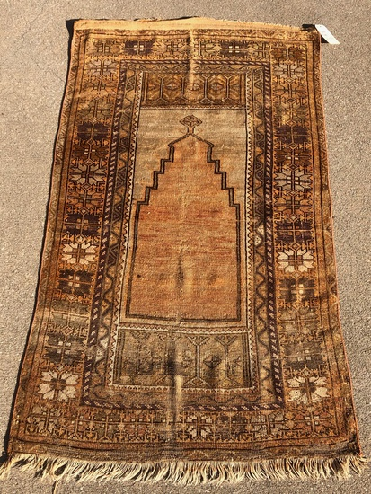 "Anatolian Turkish Rug - 6'x3'2"", W/ Abrash & Overall Wear"