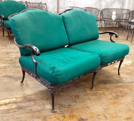 "Indoor/Outdoor Loveseat - 51""x34""x34"", From Hall's Kansas City - LOCAL PICK"