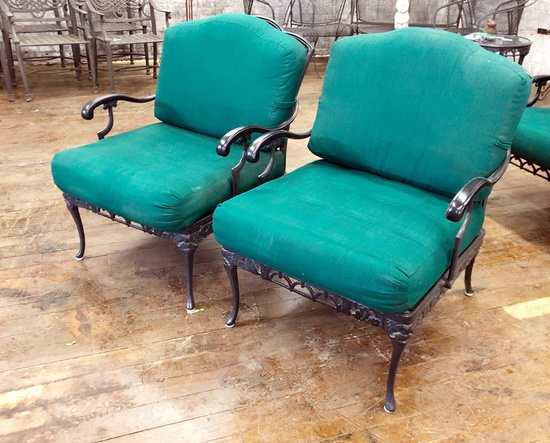 "Pair Indoor/Outdoor Chairs - 27""x34""x34"", From Hall's Kansas City - LOCAL P"