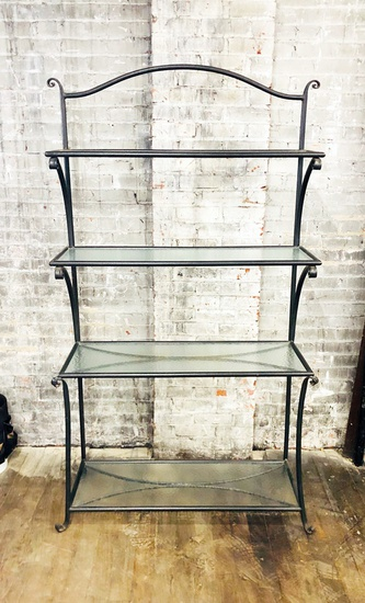 "Iron Etagere - 46""x20""x79"", From Hall's Kansas City - LOCAL PICKUP ONLY"