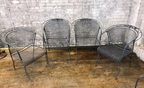 "4 Woodard Iron Chairs - 26""x27""x30"" - LOCAL PICKUP ONLY"