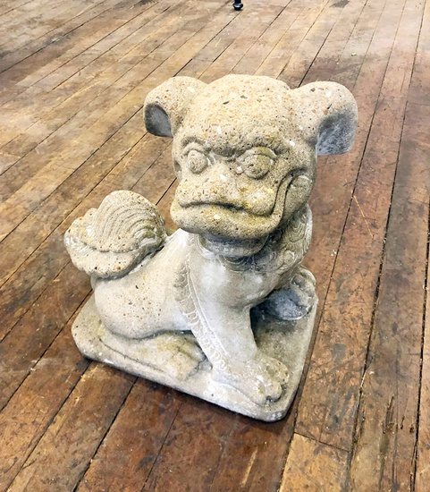 "Foo Dog Concrete Figure - 17""x18"""