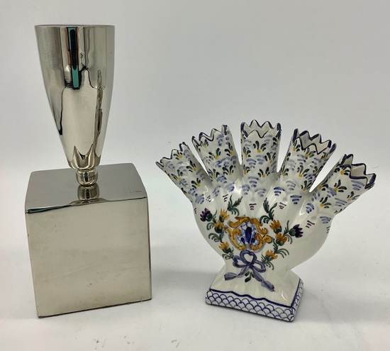 Posey Holder - Made In Portugal;     Contemporary Paperweight Vase