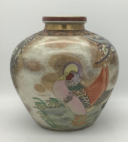 "Hand Painted Designer Vase - 12"" Tall"
