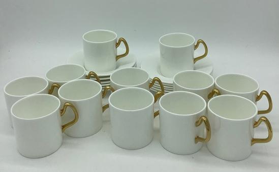 12 Coalport England Demitasse Cups & Saucers