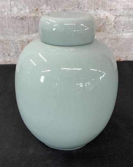 """Nice Celadon Ginger Jar - 8"""" Tall"""