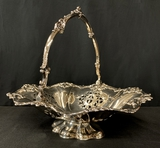 Silverplated Basket W/ Handle - Martin Hall Co. Sheffield, 12¾
