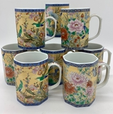 Set Of 8 High Quality Asian Inspired Mugs