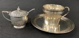 Sterling Cup & Saucer - Souvenir Reconnaissant Neville 2 Sept 17 Renaux, Mo