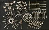 91 Pieces Oneida Heirloom Sterling Flatware - Damask Rose, 12 Dinner Knives