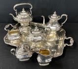 7-piece Gorham Silverplated Coffee/Tea Service - Tray 28