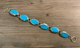 Sterling & Turquoise Bracelet - 7½