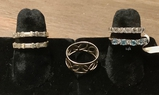 14Kt Ring - Size 5½;     4 .925 Rings - 2 Size 5, 2 Size 6