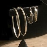 2 Pairs .925 Hoop Earrings – 2½