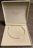 Veronese Sterling Gold-Tone Band Necklace