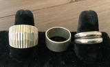 4 .925 Sterling Rings - 3 Size 9, 1 Size 8½