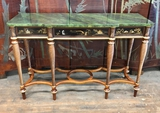 John Widdicomb Furniture Console Table - #6340, Hand Painted W/ Faux Marble