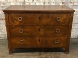 Burled 3-drawer Neo-Classic Walnut Veneered Chest - By Modern History, 41½