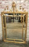 9-panel French Style Beveled Glass Mirror W/ Gold Ormolu Trim - 32